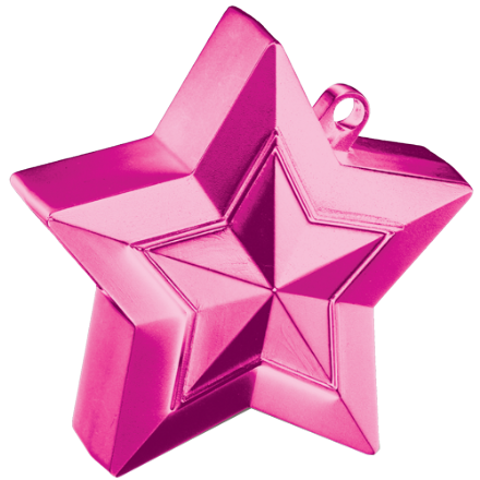 Magenta 3D Star Weight